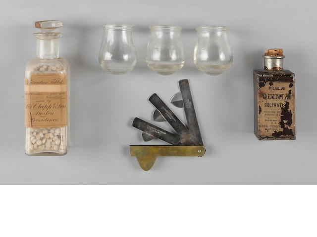 A group of Civil War medical items