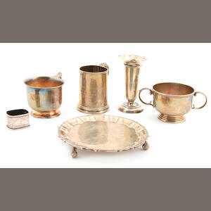 A group of English sterling silver  hollowware late 19th / early 20th century