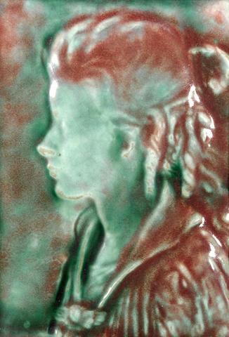 Beniamino Benvenuto Bufano (Italian/American, 1898-1970) Profile of a Woman 7 3/4 x 5 3/4in