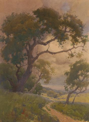 Percy Gray (1869-1952) Oaks in June, 1912 16 x 12in
