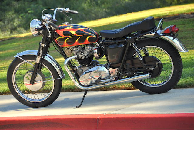 Von Dutch flamed and pinstriped gas tank,1966 Triumph Bonneville 650 Custom  Chassis no. DU34919 Engine no. DU34919