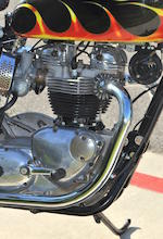 Von Dutch flamed and pinstriped gas tank,1966 Triumph Bonneville 650 Custom Frame no. DU34919 Engine no. DU34919