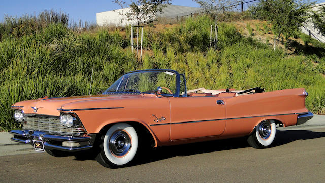 One of 1,167 examples produced,1957 Chrysler Imperial Crown Convertible  Chassis no. C5736398