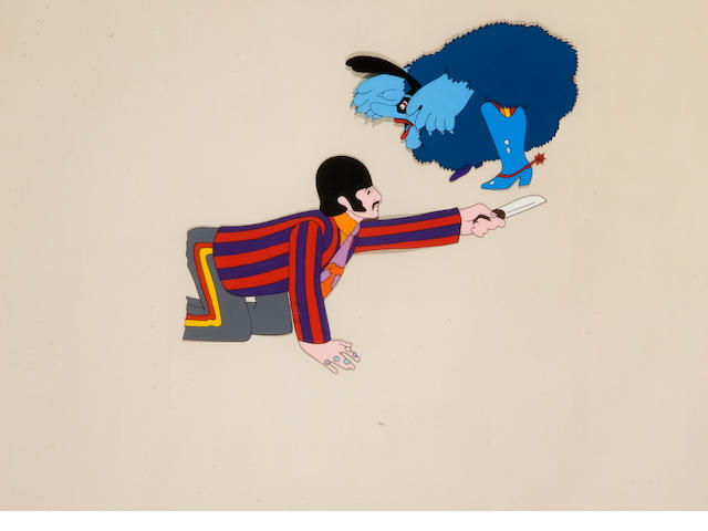 Three yellow submarine cels