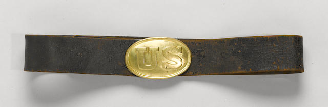 A Civil War era U.S. Model 1839 infantry enlistedman's waist belt
