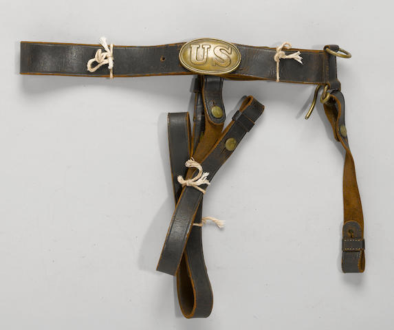 A U.S. Model 1840 dragoon sword belt