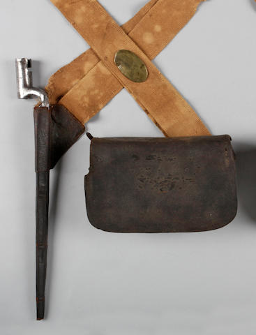 A rare early Federal period set of militia infantry accoutrements