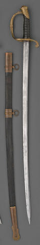 An unusual non-regulation light infantry officer's saber