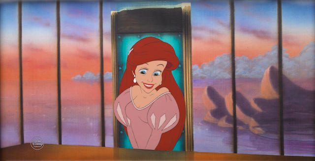 A Walt Disney celluloid from The Little Mermaid