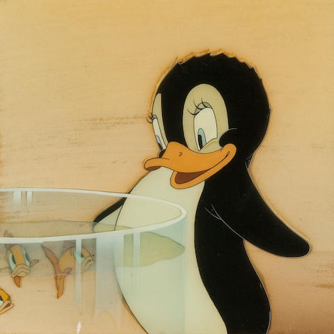A Walt Disney celluloid from Donald Penguin