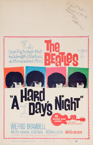A Hard Day's Night Beatles poster