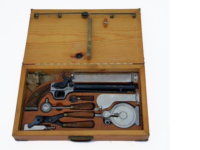 A Von Dutch Custom .45 Caliber Black Powder Pistol with Case.