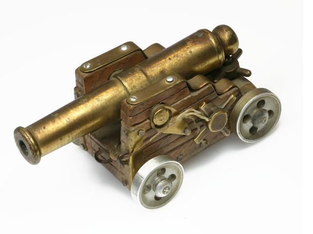 A Von Dutch Custom Miniature Cannon, signed Von Dutch '67,