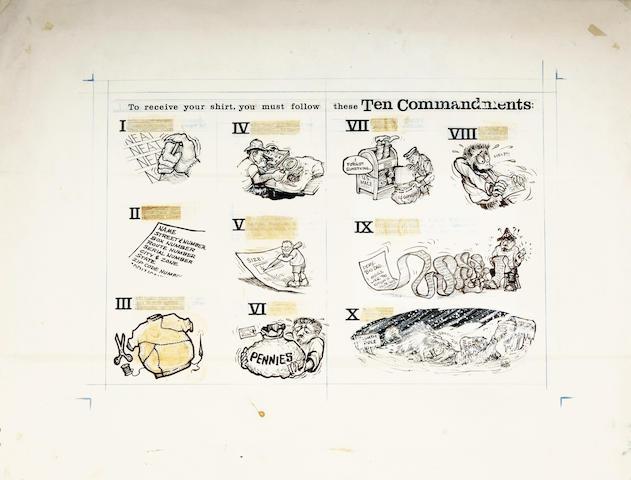 "Ed ""Big Daddy"" Roth original artwork - ""The Ten Commandments"","