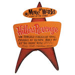 "Ed ""Big Daddy"" Roth handcrafted wood sign ""Hitlers Revenge"","
