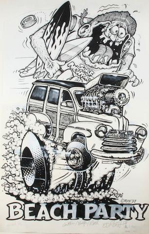 "Ed ""Big Daddy"" Roth original artwork - ""Beach Party"","