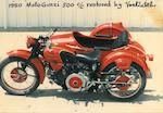 A collection of five personal motorcycle photographs of Von Dutch,