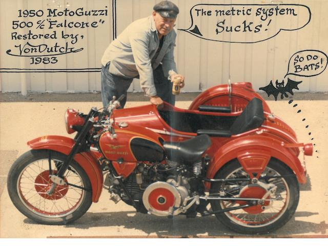 A collection of four personal motorcycle photograph of Von Dutch,