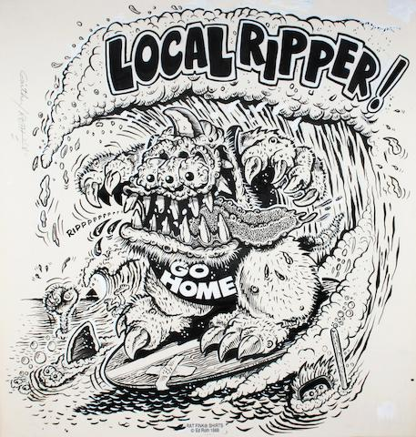 "Ed ""Big Daddy"" Roth original artwork - ""Local Ripper"", 1988,"
