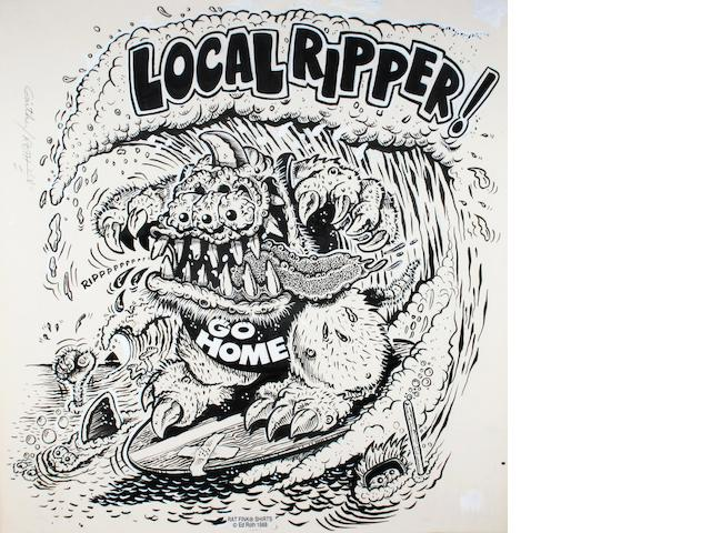 "Ed ""Big Daddy"" Roth original artwork - ""Local Ripper"","