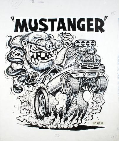 "Ed ""Big Daddy"" Roth original artwork - 'Mustanger' 65,"