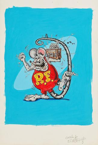 "Ed ""Big Daddy"" Roth, 'Rat Fink' painting,"