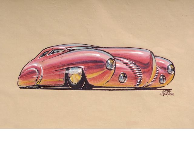 Ed Newton original, 1940 Ford,