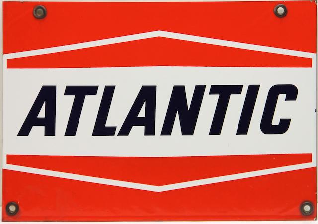 An Atlantic pump plate, circa 1960s,