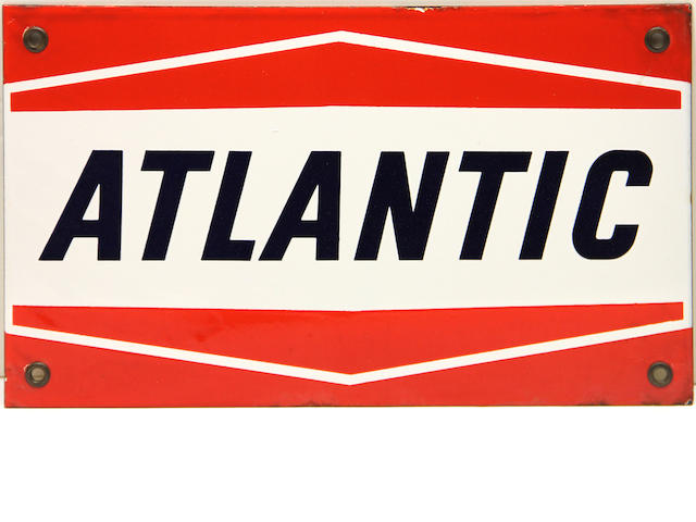 An Atlantic pump plate, circa 1960s,