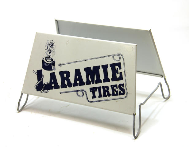 A Laramie tire display,