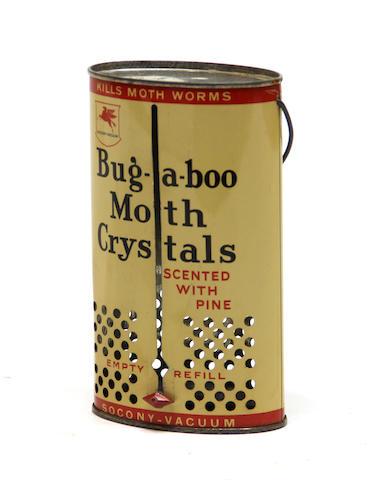 "A rare Socony Vacuum ""Buggaboo"" moth chrystal dispensing can, circa 1930s,"