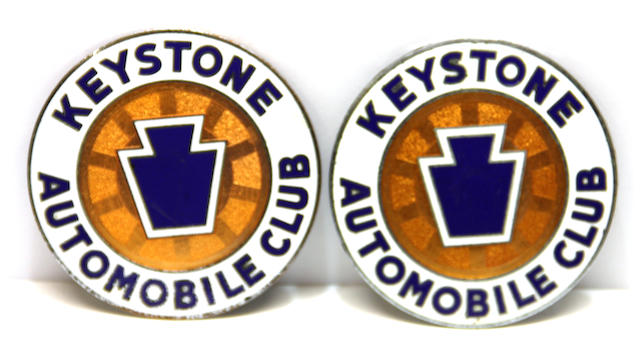 A pair of Keystone Automobile Club badge,