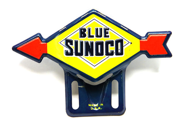 A Sunoco Blue licence plate topper,