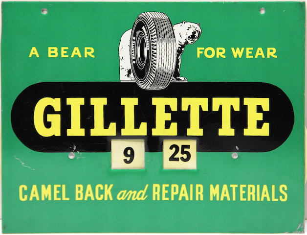 A Gillette Tire advertising with patch timer,