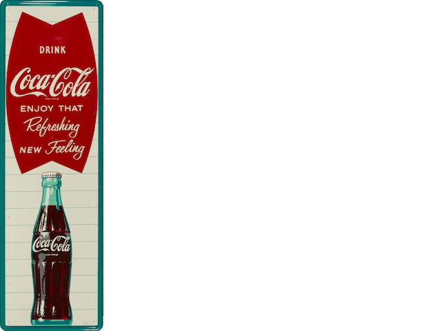 A large Coca-Cola advertising sign, circa 1962s