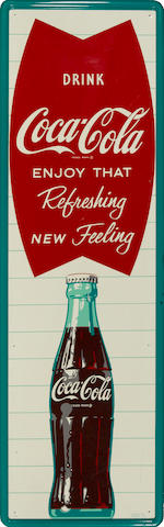 A large Coca-Cola advertising sign, circa 1962s