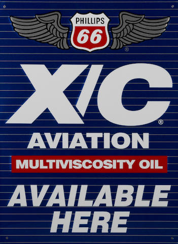 A Phillips 66 Aviation Multiviscosity oil sign, 1980,