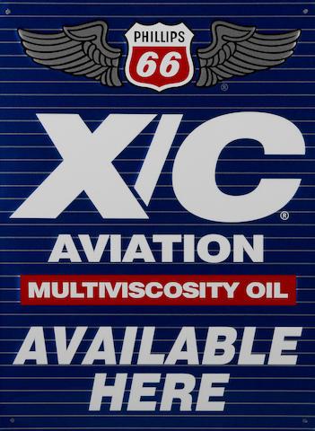A Phillips 66 Aviation Multiviscosity oil sign, 1980,