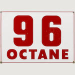 A 96 Octane sign, 1960,