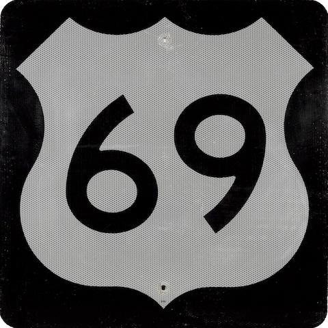 A Minnisota U.S. Route 69 sign,