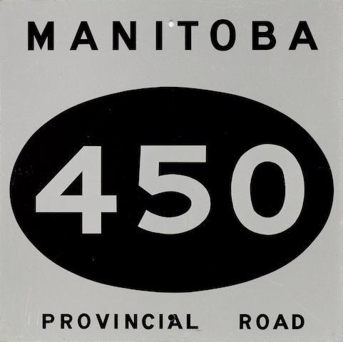 A Manatoba, Canada 450 Provincial Road sign,