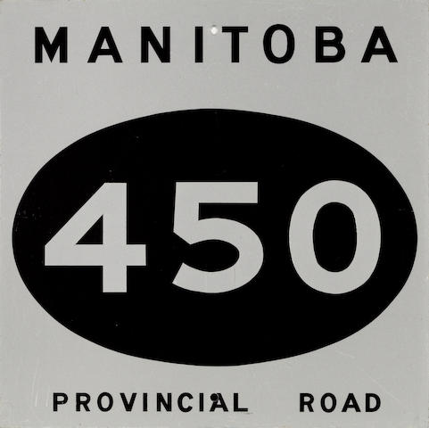 A Manitoba, Canada 450 Provincial Road sign,