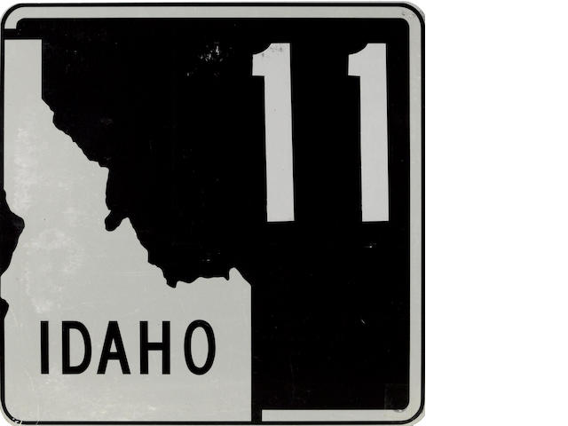 A Idaho Interstate Route 11 road sign,