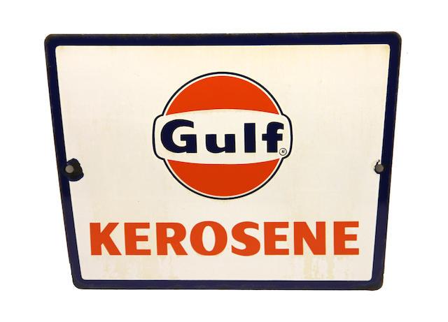 A rare Gulf Kerosene pump plate, circa 1960's,