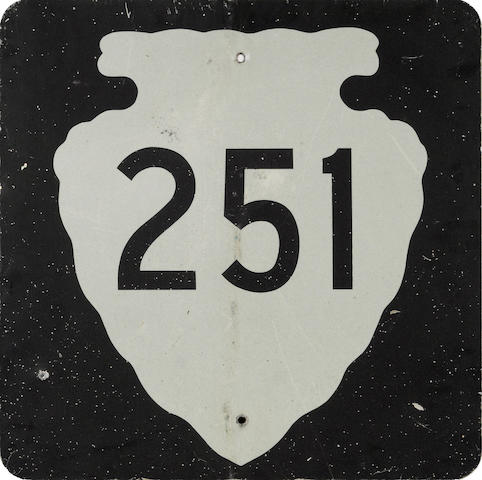 A Montana State Highway 251 road sign,