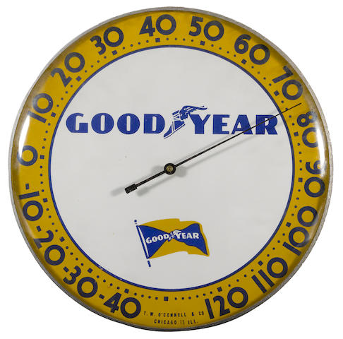 A Goodyear Tire Thermometer, circa 1950s,