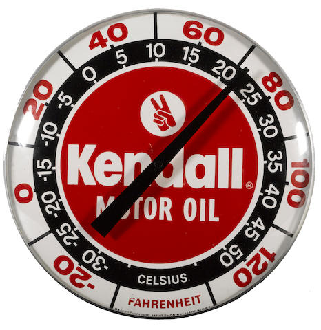 A Kendall Motor Oil Thermometer, 1960s,