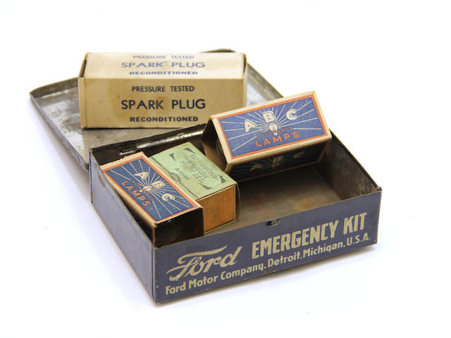 A Ford Model T Emergancy Kit, circa 1920s,
