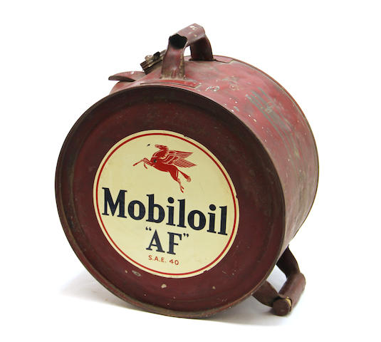 A Mobiloil rollercan, 1930s,