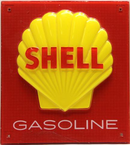 A modern Shell pump plate,